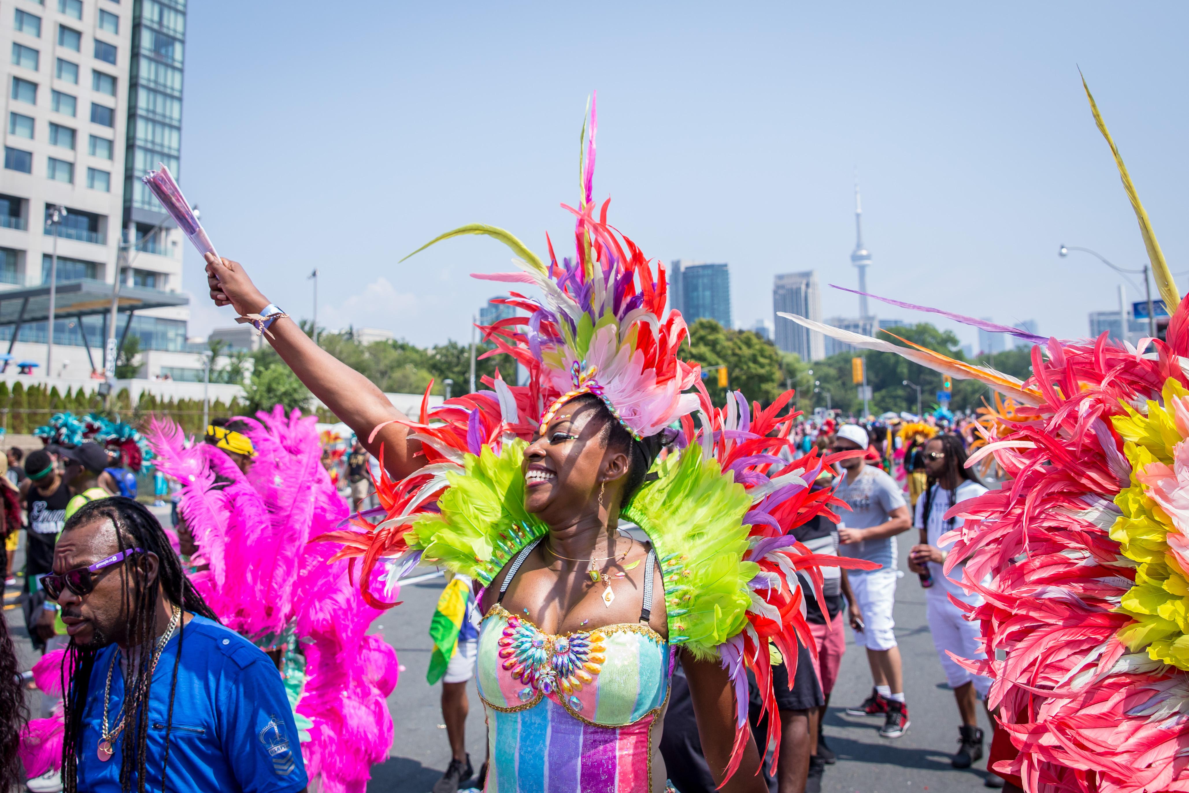 Caribana Grande Parade Festival Goers in Costume