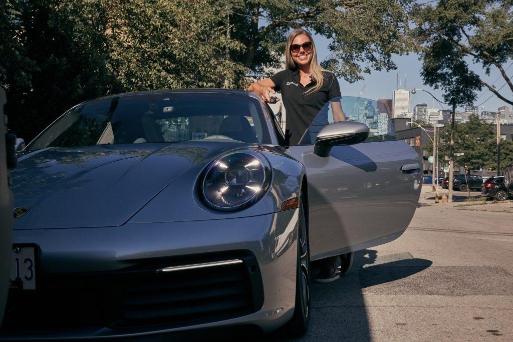 Porsche Concierge dropping off the porsche 911